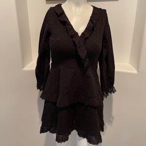 SHILLA THE LABEL Obtain Embroidery Lace Trim Dress